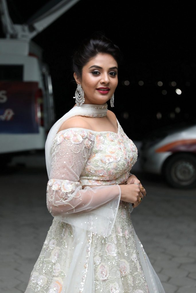SreeMukhi At The Grand Pre Release Event Pics