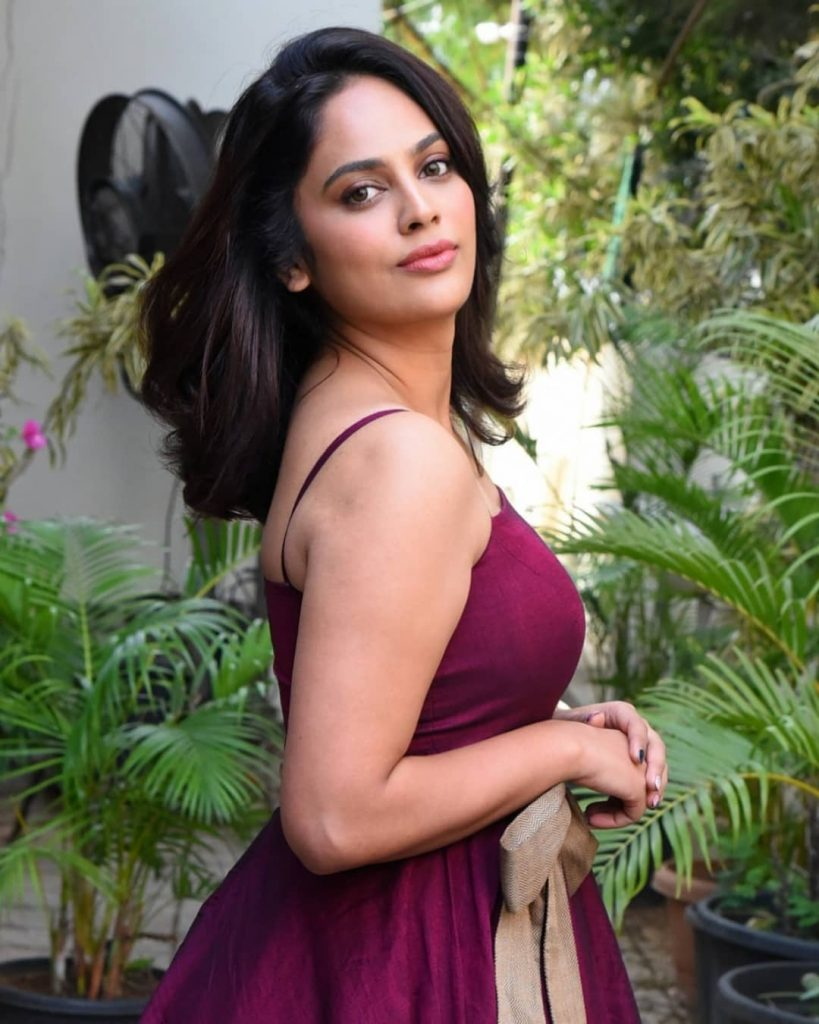 Nandita Swetha Maroon Colour Dress Stills
