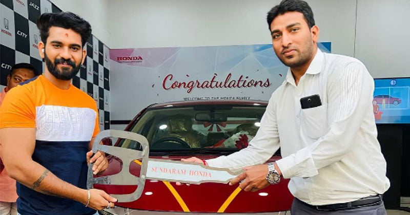 Akhil sarthak Bought New car