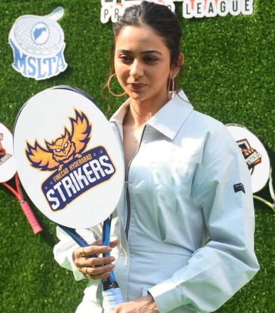 Rakul Preet Singh Tennis Premier League Auctions For Her Team Finecab Hyderabad Strikers