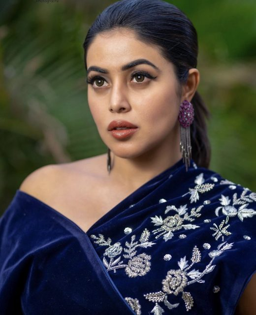 Poorna Blue Dress Stills