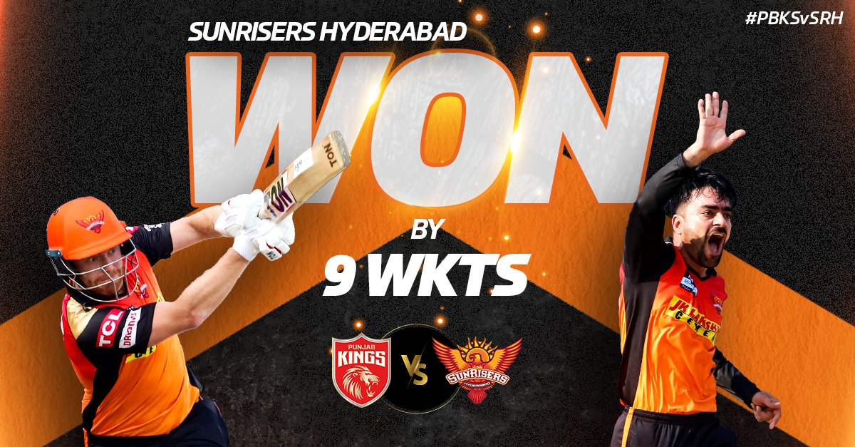 IPL-14 Match-14 : first victory for sunrisers hyderabad