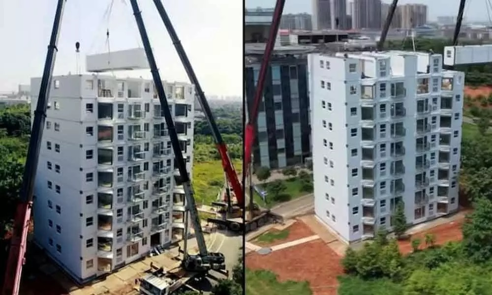 10 Storey Building Built in Just 10 Hours