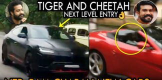 Ram Charan And NTR Entry With New Cars
