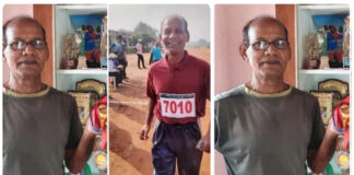 75Years Old Athlete Showing His Talent In Athletics