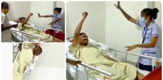 Nurse makes a paralysis patient to dance for Bullet Bandi song