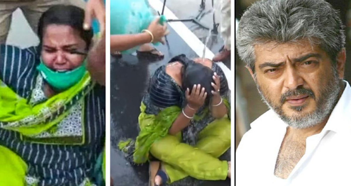 Woman who tried committing suicide in front of Ajith's house gets arrested